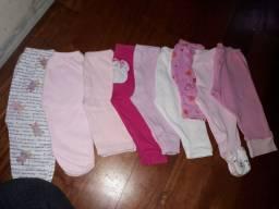 Lotinho de roupa de bebê menina M e G