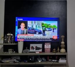 Painel de TV em MDF preto Trama - Mineiros