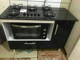 balcão + fogão + forno 48L mega promoção ( entrega e montagem imediata sem taxas )