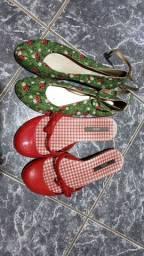 Uma Melissa e uma sapatilha 37
