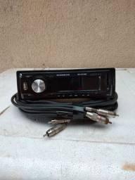 Rádio Rodstar mais cabo rca blindado mais caixa de cornetas com bocais ((sem drav ))