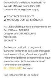 Manicure Contrata se URGENTE!!!