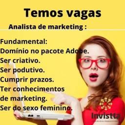 Vaga para: Analista de Marketing