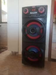 Caixa de som potente marca amvox 1000 RMS de potência
