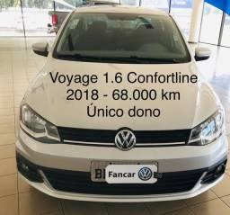 Voyage 1.6 confortline 2018 único dono 64.600 km