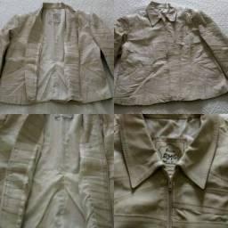 Jaqueta de couro gg