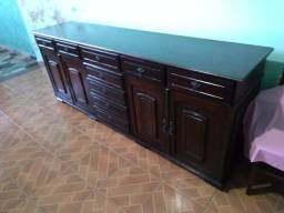 Balcão madeira maciça estilo colonial