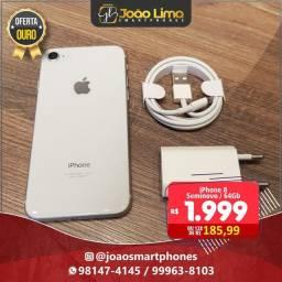 IPHONE 8, 64GB, SILVER, SEMINOVO