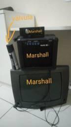 Vendo cabeçote e gabinete de áudio pra guitarra valvulado da Marshall
