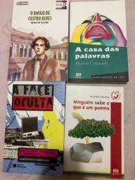 livros o amigo de castro alves, ngm sabe oq e poema, face oculta