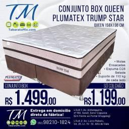 Promoção! Conj. Queen Plumatex Trump Star 30CM Molas Ensacadas! 12X Sem Juros