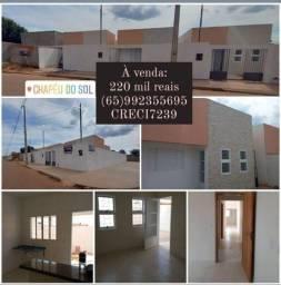 À venda: Casas novas em porcelanato e laje no Chapéu do Sol