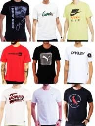 Título do anúncio: Oportunidade Kit 50 com camisetas masculinas estampadas de primeira qualidade