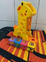 Título do anúncio: Girafa com blocos  fisher price