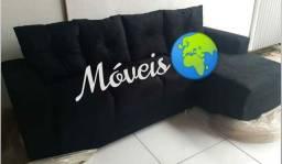 Mundo móveis/ sofá com almofadas