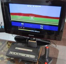 Vídeo game antigo supergame funcionando.