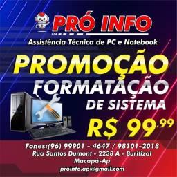 Sistema, programas, Formatação