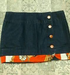 Título do anúncio: Saia jeans com botões
