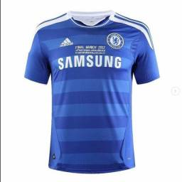 Camisa retrô masculina do Chelsea 2011/2012