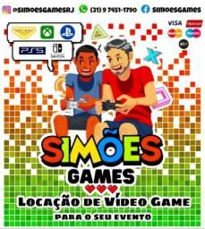 Aluguel de vídeo game e telão eventos. Playstation 5 & 4, XboxOneS, Fliperama, Switch