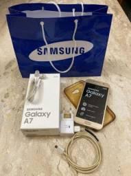 Samsung Galaxy A7 2017 Dourado (Usado)