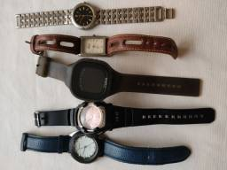 5 relógios masculinos por 50,00