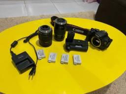 Canon T3i 2 lentes 4 baterias com garantia