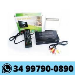 Conversor de Tv Sinal Digital HD c/ Função Gravador