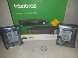 Dvr Intelbras 8 canais MUTHD novos c/HD de 1 tera aceito cartão c/acréscimo da máquina