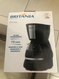Cafeteira CP15 inox Britânia (nova)