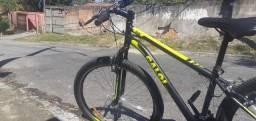 Bicicleta Caloi Velox Aro 29 , 21 marchas ,Quadro 17 Alumínio Preto/verde