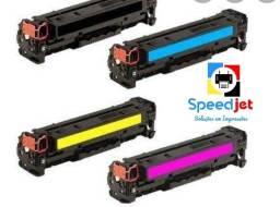 Toner Colorido HP CE320A CB540A 128A 125A: Preto, Cyano, Magenta e Amarelo Toner Novo