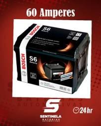 Bateria Bosch 60 Amperes - 24 meses de garantia; Promoção