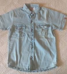 Camisa jeans dino boy para meninos . número 8