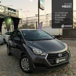 Título do anúncio: Hyundai HB20 1.0 Comfort 2018 Extra R$51.990