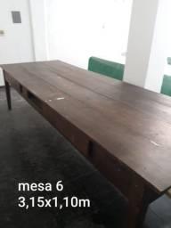 Mesa de Madeira para Jardim e Varanda 06