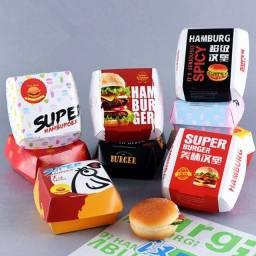 Bah Peça Caixa Personalizada de Hambúrguer