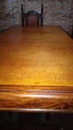 Mesa d jantar com 6 cadeiras maciça (ENTREGO)