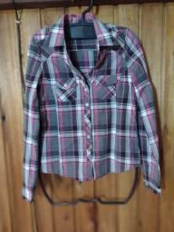 595 - Camisa xadrex feminina - Tam PP