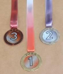 Medalha Olímpica Ouro   Prata   Bronze 5cm com Cordão Personalizada 2a0fceeea9