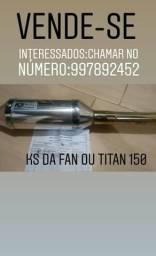 Escapamento Semi-Novo:KS da Fan ou Titan 150