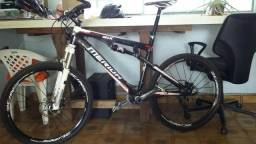 Bike Bicicleta Full Fibra Carbono Merida Sram rock shox sid world cup Roda Mavic 26 Troco