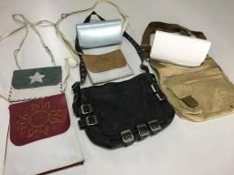 Bolsas em couro e carteiras lote