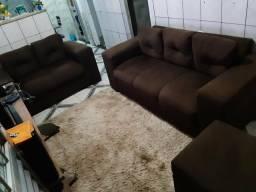 Vendo sofá da cor marrom