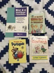 Lote com livros de piadas e humor