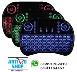 Mini Teclado Wireless Bluetooth Com Luz Pc Tv Ps3 Xbox Box tv