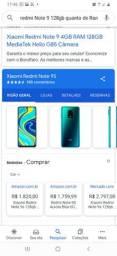 Xiaomi Redmi Note 9 128GB 4de RAM zerado