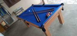 Mesa Tentação e Jantar Cor Cerejeira Tecido Azul Mod. QNSE7203