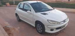 Peugeot 206, Branco , 4 portas, ar, novo - 5mil - 2007