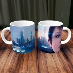 Caneca Detroit Become Human Games Porcelana 325ml #1599 Kuzkv Ehgqz